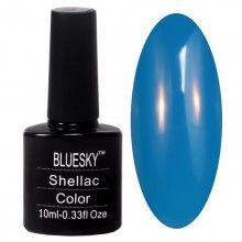 Гель-лак Shellac Bluesky, синий, арт.046